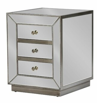 Everly Dycus 3 Drawer Nightstand Quinn