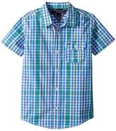 Tommy Hilfiger Short Sleeve Chris Yarn-Dye Plaid Shirt Boy's Clothing