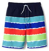 Lands' End Little Boys Printed Swim Trunks-Tie Dye Stripe