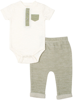 Cutie Pie Baby Cream & Green Bodysuit & Pants