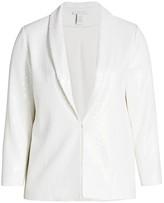 Joan Vass Joan Vass, Plus Size Sequin Tailored Jacket