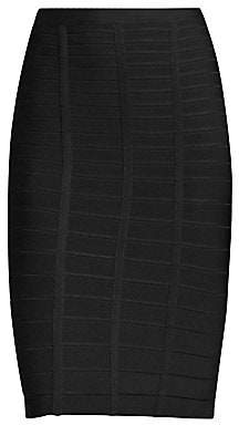 Herve Leger Women's Sia Bandage Pencil Skirt