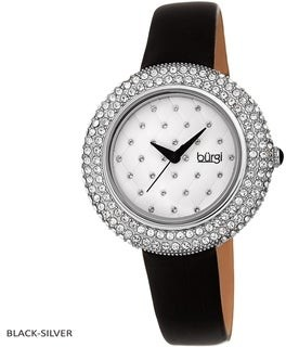 Burgi Ladies Argyle Dial Swarovski Crystal Glamour Strap Watch