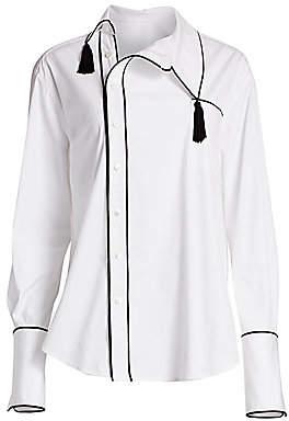 Monse Women's Side Collar Tassels Shirt
