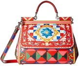 Dolce & Gabbana Printed Leather Miss Sicily Medium Satchel Handbags