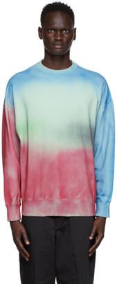 N.Hoolywood Green Spray Sweatshirt