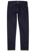 Ps By Paul Smith Indigo Tapered Stretch Denim Jeans