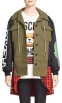 Moschino Women's Mixed Media Army Jacket