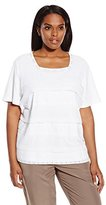 Alfred Dunner Women's Plus-Size Gauze T-Shirt