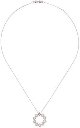 Roberto Coin 18kt white gold Roman Barocco diamond and ruby pendant necklace