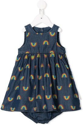 Stella McCartney Rainbow Print Denim Dress