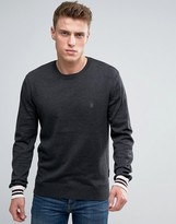 French Connection Crew Neck Knitted Jumper With Contrast Sleeve