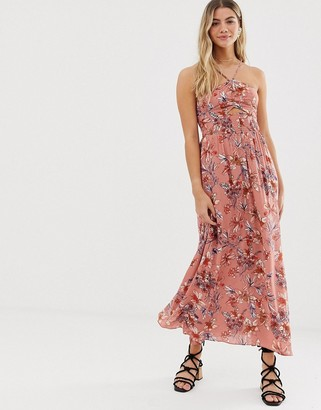 Free People One Step Ahead floral maxi dress-Pink