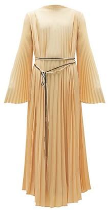 Ellery De Voluptate Pleated Crepe Dress - Womens - Beige