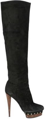 Le Silla Black Leather Boots