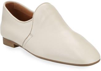Aquatalia Revy Napa Leather Flat Loafers