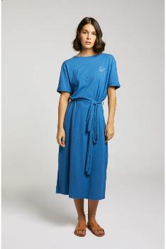 Maison Labiche Blue Liberte Linen Dress - xs