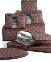 Hudson Homewear Fine China Storage Set, 8 Piece Chocolate Damask
