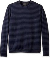 Naked & Famous Denim Men's Slim Crew in Tonal Stripe Doubleknit