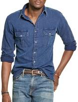 Polo Ralph Lauren Indigo Chambray Regular Fit Button-Down Work Shirt