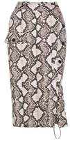 Altuzarra Snakeskin-printed cotton skirt