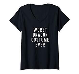 Dragon Optical Womens Couples Halloween Costume Shirts Worst Costume Ever V-Neck T-Shirt
