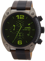 Diesel Men's Overflow Chronograph Leather Strap Watch