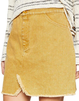 Sadie & Sage Lea Washed Twill Mini Skirt