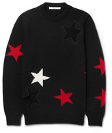 Givenchy Cutout Intarsia Wool Sweater