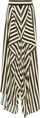 Loewe Striped Crepe Maxi Skirt