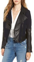 Blank NYC BLANKNYC Faux Leather & Canvas Moto Jacket