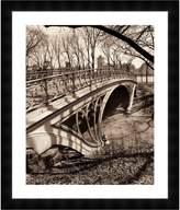 McGaw Graphics Central Park Bridges 3 by Chris Bliss (Framed Print)