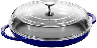 """Staub 12"""" Round Steam Griddle, Dark Blue"""