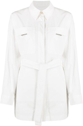 Brunello Cucinelli Short Belted Shirt-Style Coat