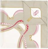 Cartier 1990's jewellery-print scarf