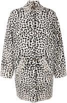 MICHAEL Michael Kors leopard pattern coat