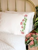 Dimensions 72-73887 Summer Geraniums Pillow Case, Stamped Cross Stich