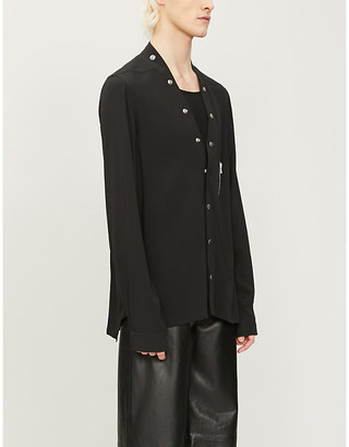 Rick Owens Larry relaxed-fit crepe shirt