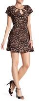 Trixxi Printed Cutout Dress