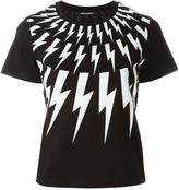 Neil Barrett lightning bolt print T-shirt - women - Cotton - XXS