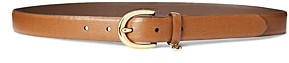 Ralph Lauren Ralph Charm Saffiano Leather Belt
