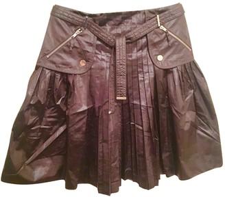 Paule Ka Brown Cotton Skirt for Women