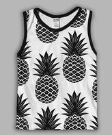 Urban Smalls White Pineapples Sublimated Muscle Tank - Toddler & Boys
