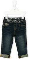 Armani Junior baby boy jeans - kids - Cotton/Spandex/Elastane - 18 mth