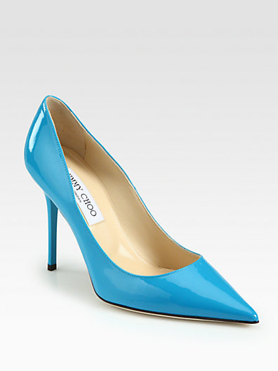 Jimmy Choo Abel Patent Leather Pumps/Turquoise