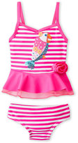 Flapdoodles Infant Girls) Two-Piece Stripe Parrot Bikini