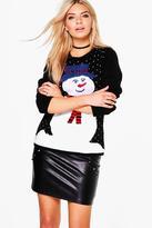 Boohoo Jessica Snowman Christmas Jumper