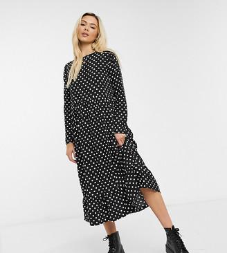 Daisy Street midaxi smock dress in polka dot