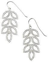 Lord & Taylor Sterling Silver Mesh Leaf Drop Earrings