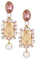 Oscar de la Renta Bold Crystal Pearly Drop Earrings